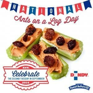 National Ants On A Log Day - 2nd Tuesday in September