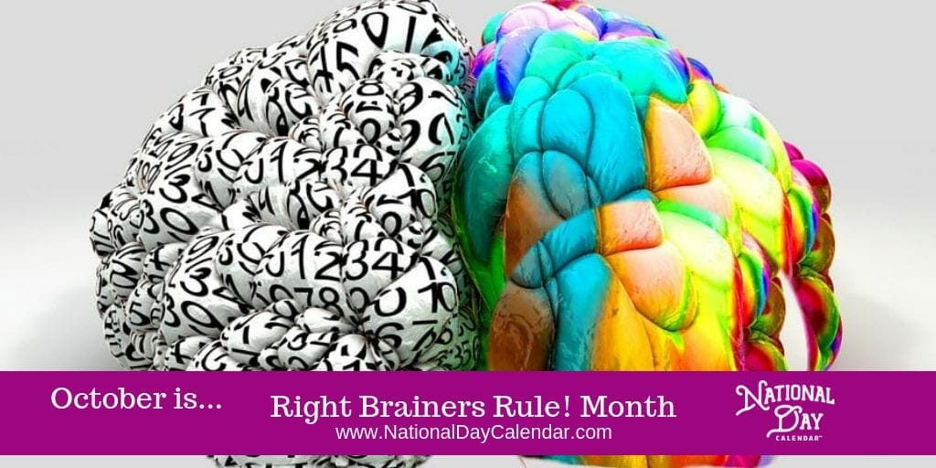 Right Brainers Rule! Month - October