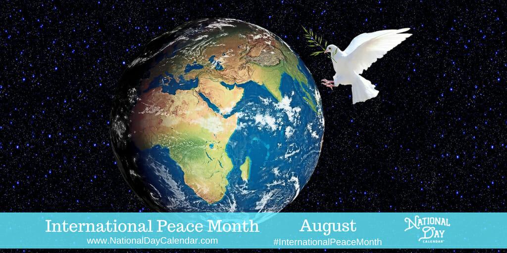 International Peace Month - August