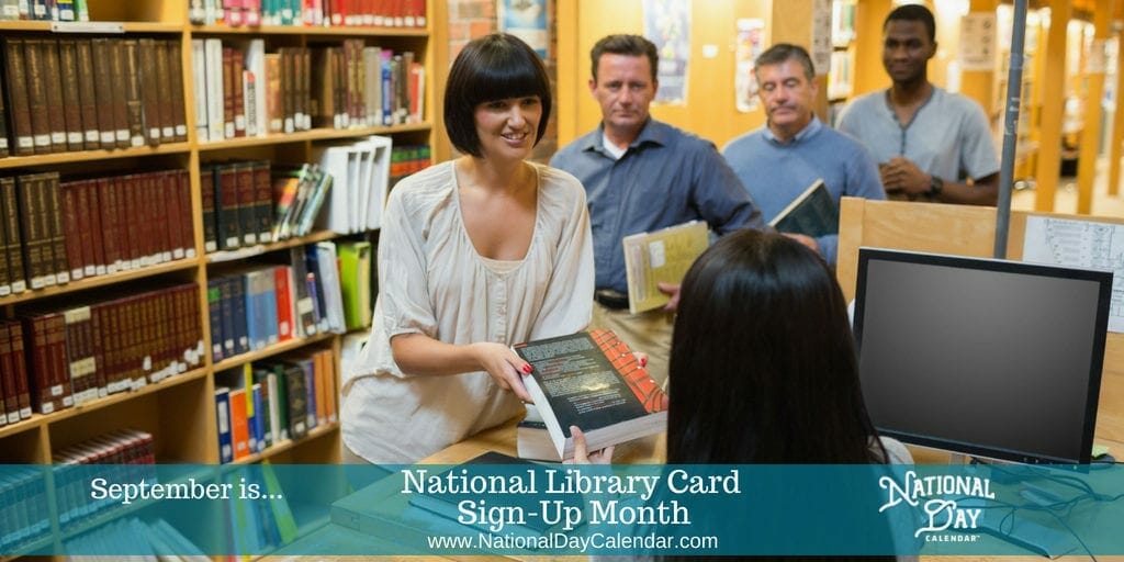 National Library Card Sign-Up Month - September