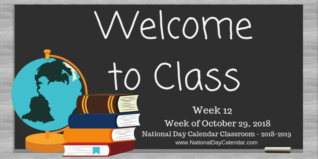 Welcome to Class - Week 12- 2018-2019