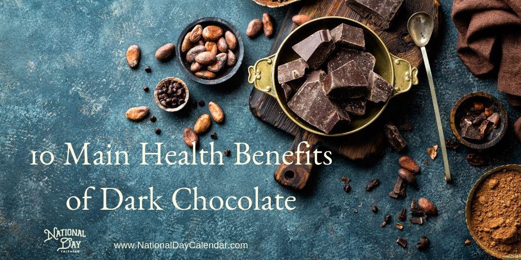 10 Main Health Benefits of Dark Chocolate