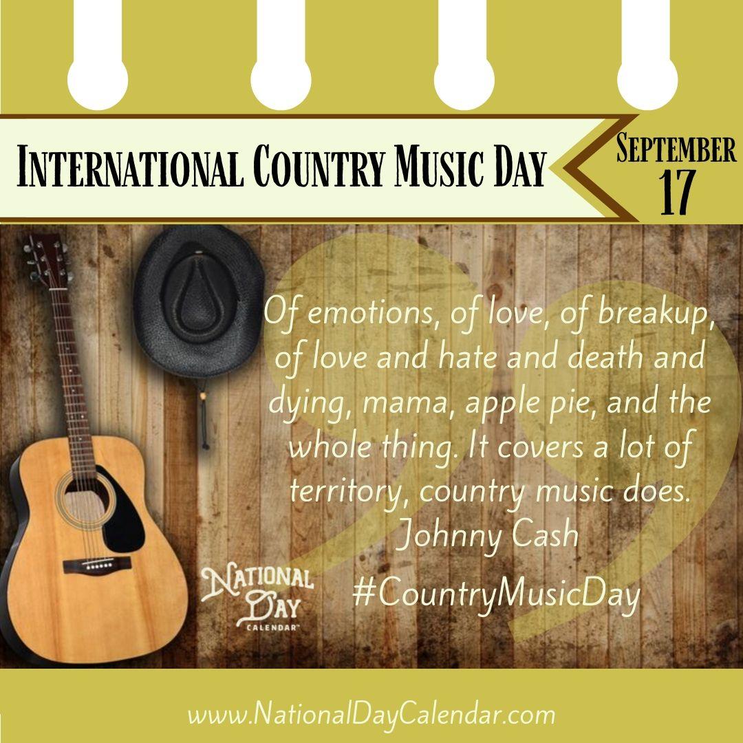 International Country Music Day - September 17