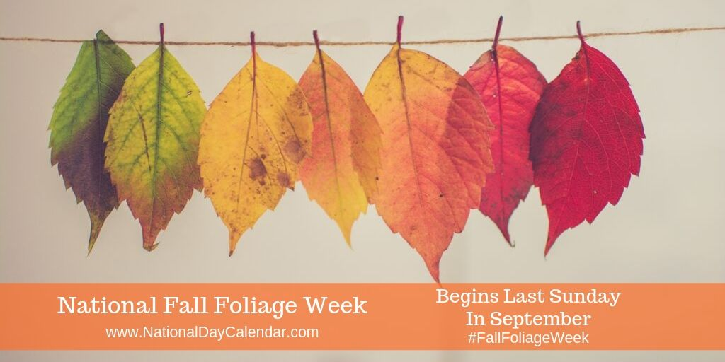 National Fall Foliage Week - Last Sunday in September