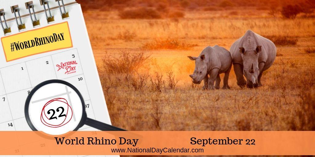 World Rhino Day - September 22