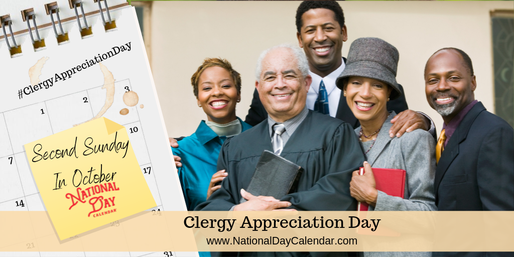 CLERGY APPRECIATION DAY – Second Sunday in October