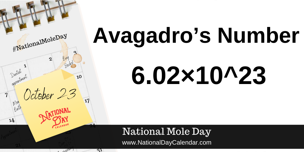 NATIONAL MOLE DAY – October 23