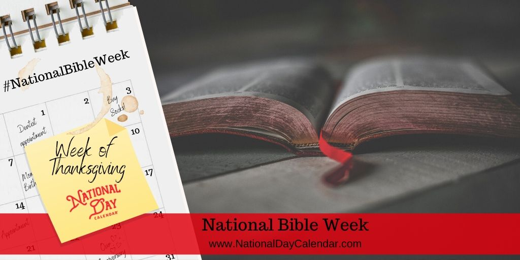 National Bible Week - Week of Thanksgiving