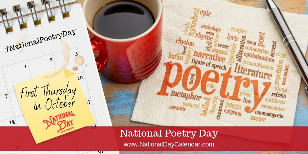 National Poetry Day - First Thursday in October