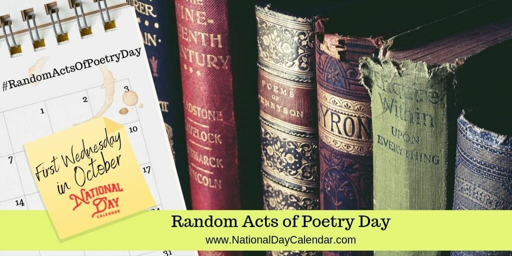 Random Acts of Poetry Day - First Wednesday in October