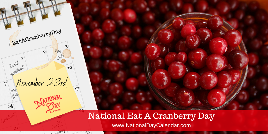 NATIONAL EAT A CRANBERRY DAY – November 23