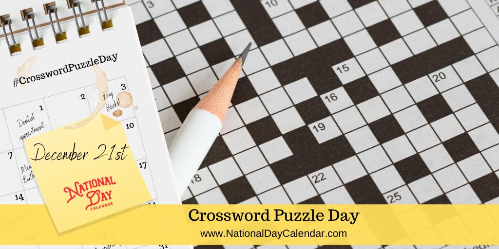 CROSSWORD PUZZLE DAY – December 21