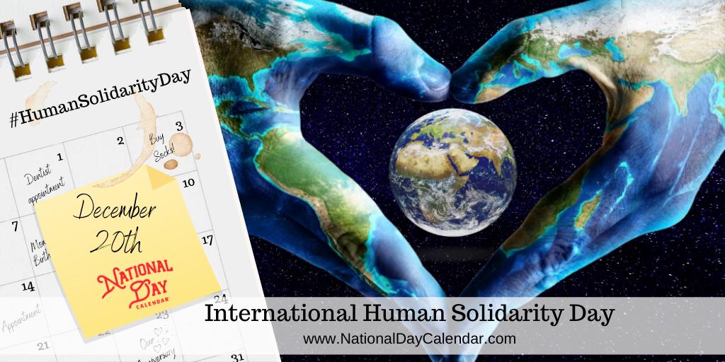 International Human Solidarity Day - December 20th