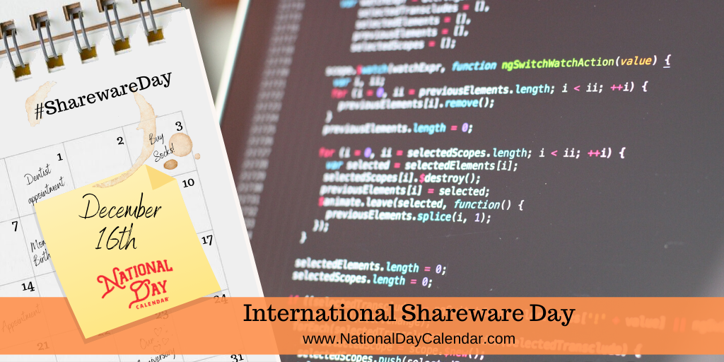 International Shareware Day - December 16