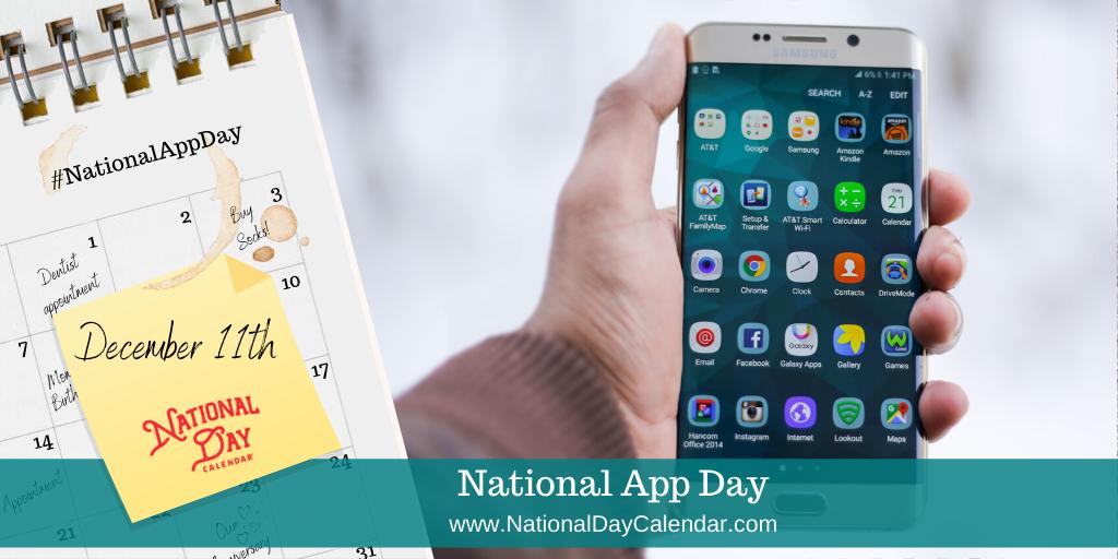 NATIONAL APP DAY- December 11