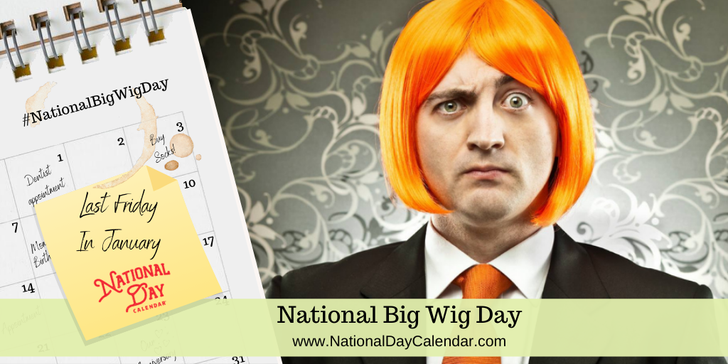 NATIONAL BIG WIG DAY – Last Friday in January