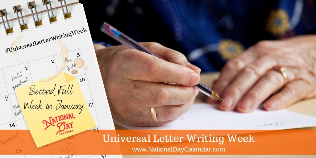 Universal Letter Writing Week - Second Full Week in January