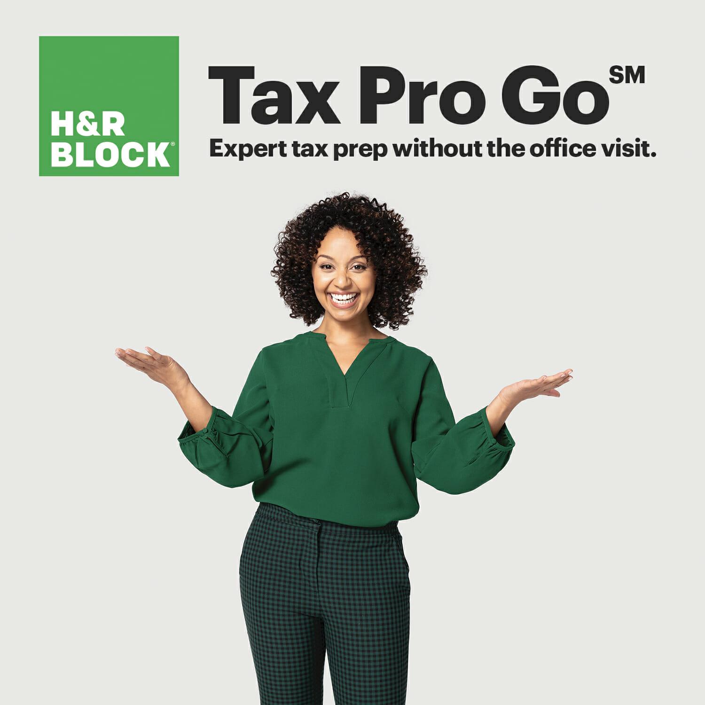 HR Block Tax Pro Go Graphic