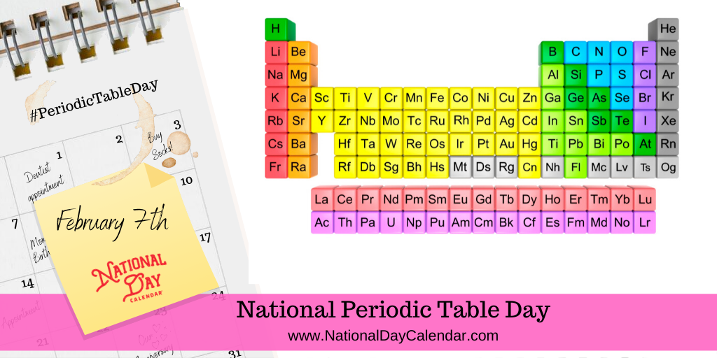 NATIONAL PERIODIC TABLE DAY – February 7
