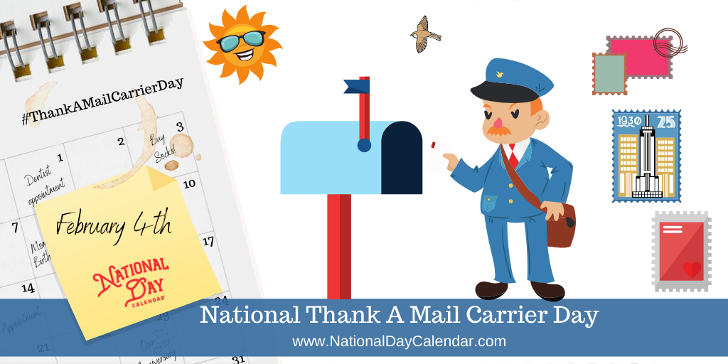 NATIONAL THANK A MAIL CARRIER DAY – February 4 (1)