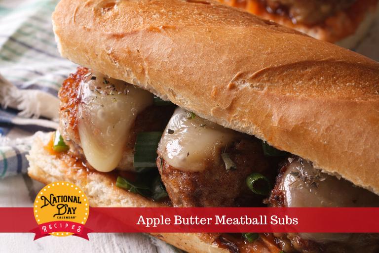 Apple Butter Meatball Subs