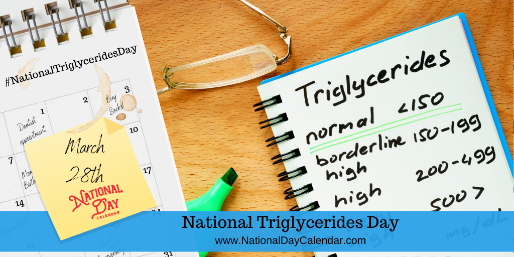 NATIONAL TRIGLYCERIDES DAY – March 28