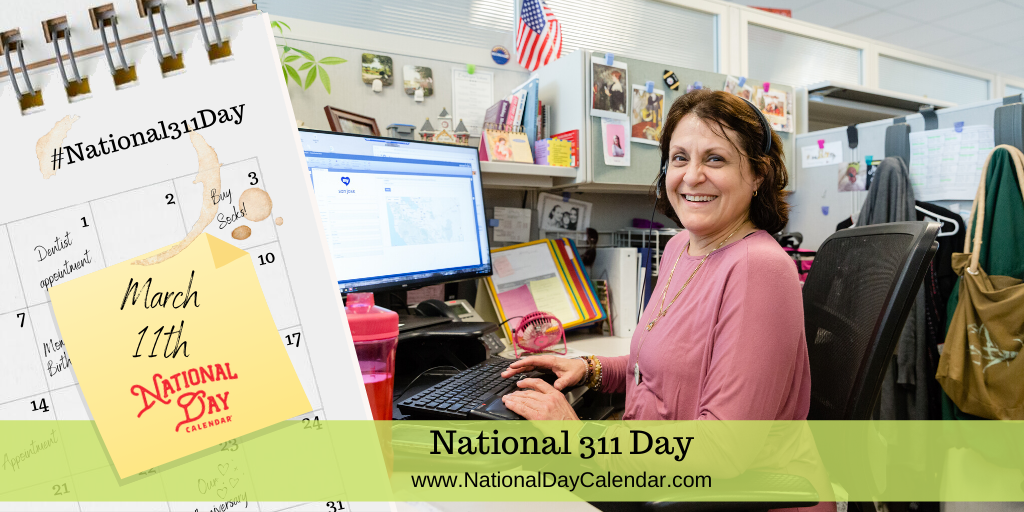National 311 Day March 11