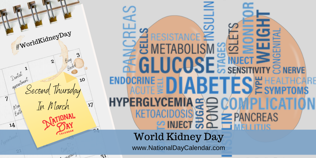 WORLD KIDNEY DAY - Second Thursday In March