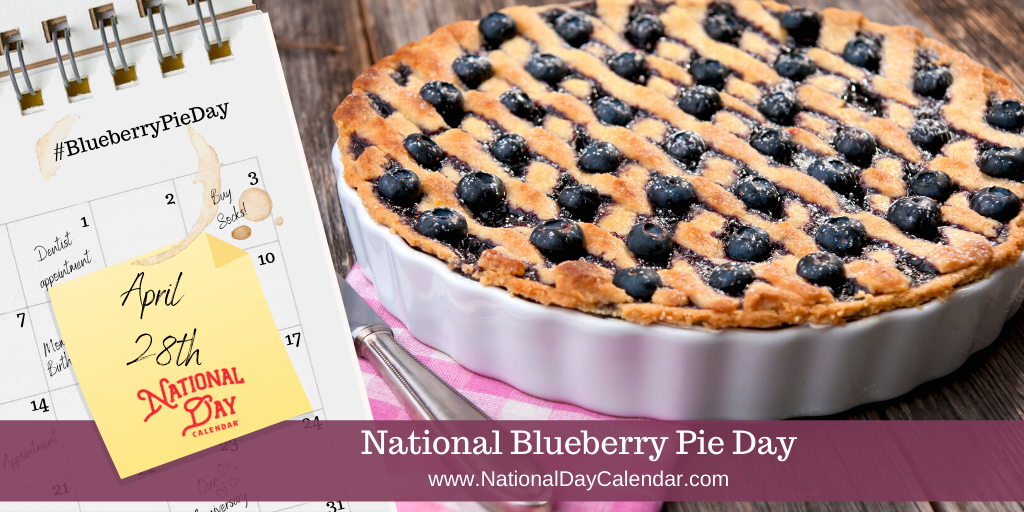 NATIONAL BLUEBERRY PIE DAY – April 28