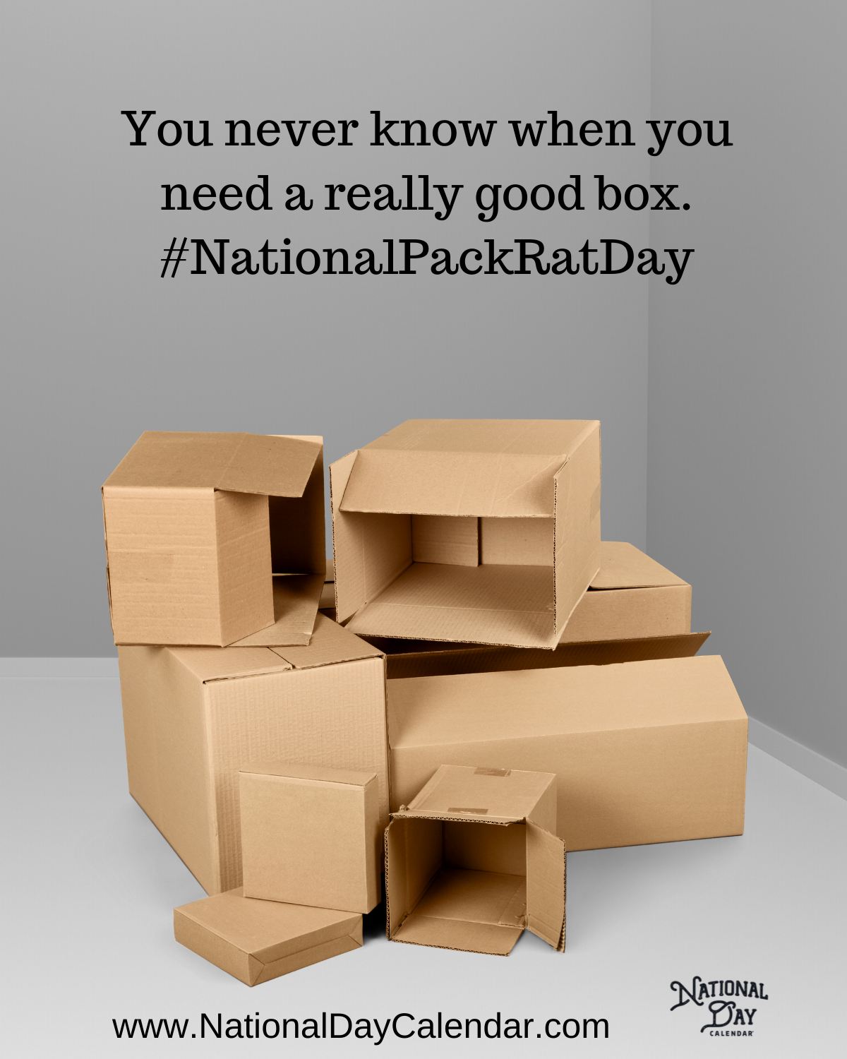 Good Boxes - National Pack Rat Day