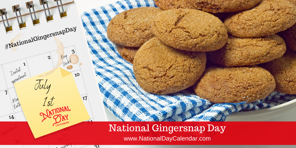 NATIONAL GINGERSNAP DAY – July 1