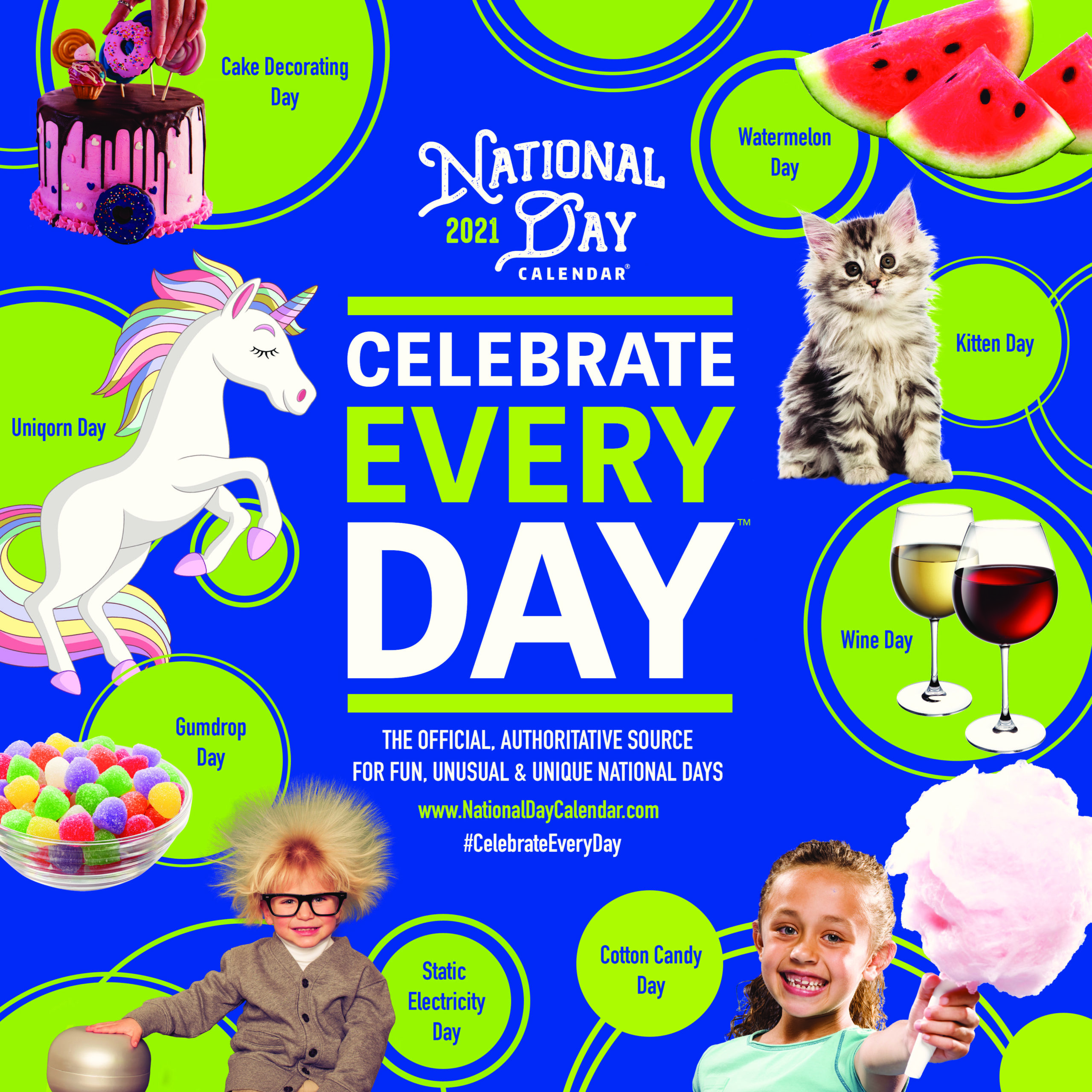Special Days Calendar 2021 The 2021 Official Celebrate Every Day Wall Calendars have arrived