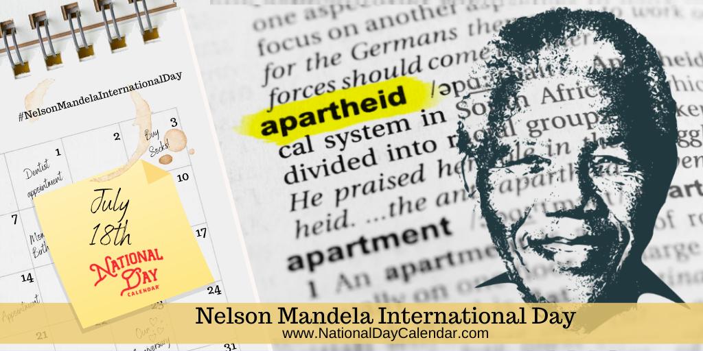 Nelson Mandela International Day - July 18