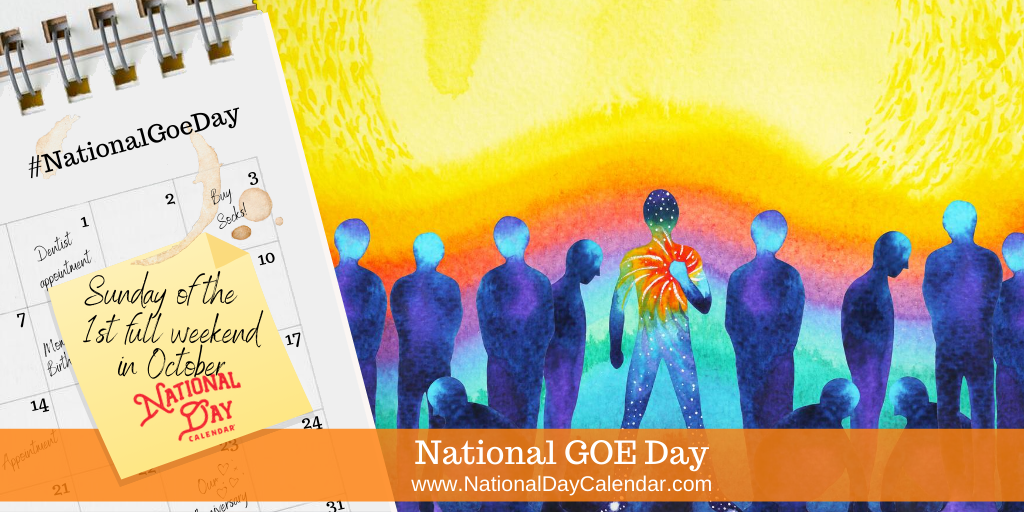 National GOE Day - Sunday of the First Full Weekend in October
