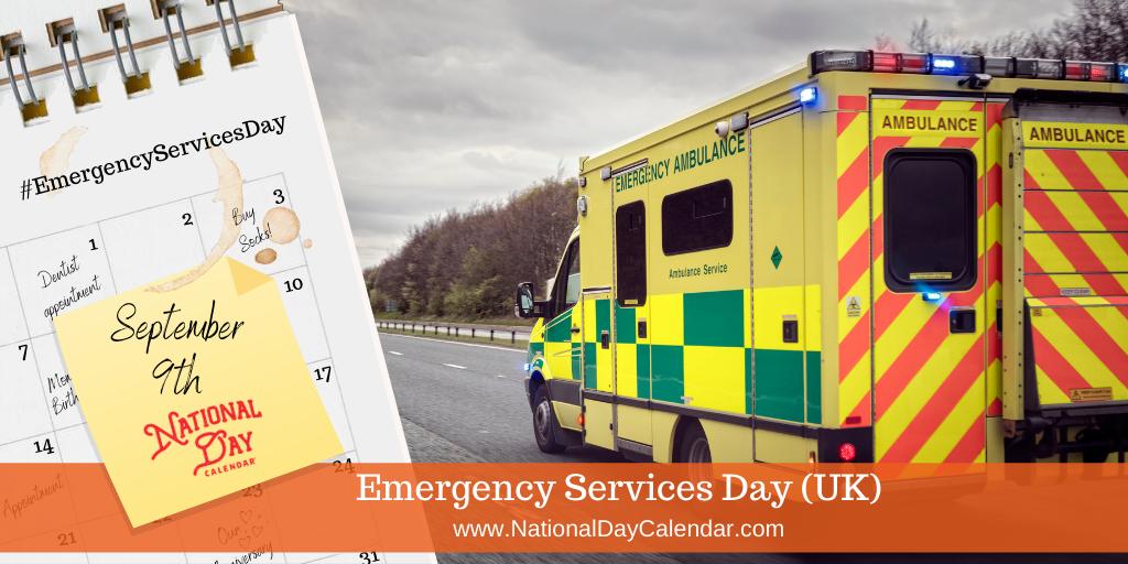 Emergency Services Day (UK) -September 9