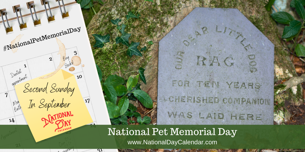 NATIONAL PET MEMORIAL DAY – Second Sunday in September