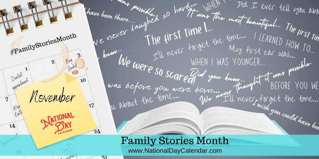 Family Stories Month - November