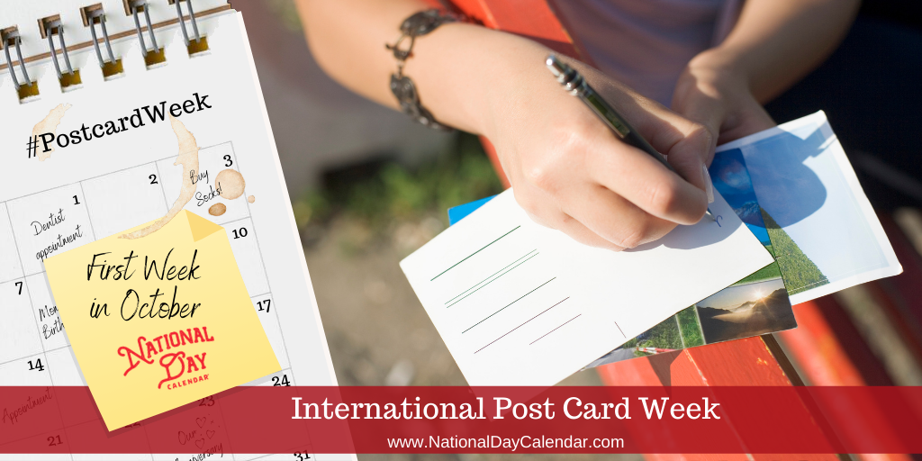 International Postcard Week - First Week in October