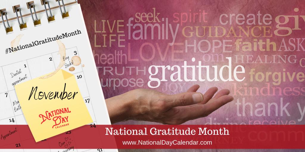 National Gratitude Month - November