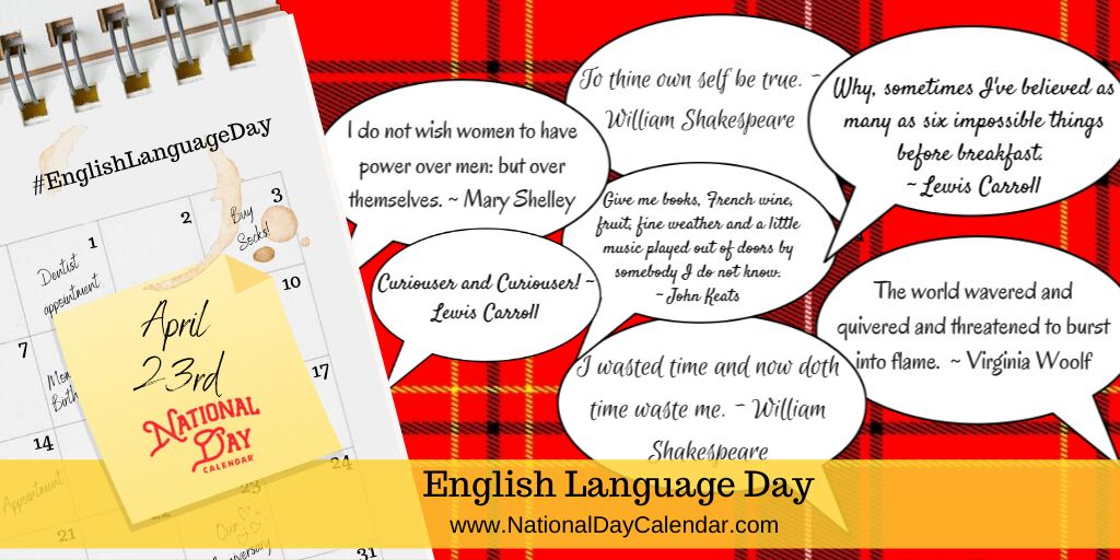 English Language Day - April 23rd
