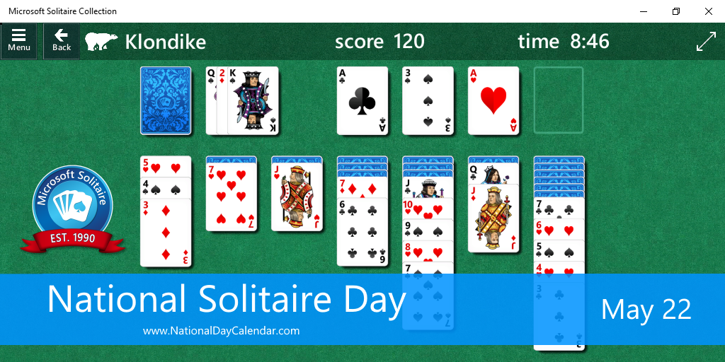 National Solitaire Day - May 22