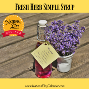 Fresh Herb Simple Syrup recipe