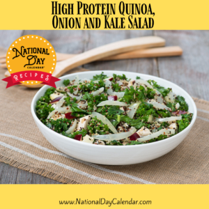 High Protein Quinoa, Onion and Kale Salad