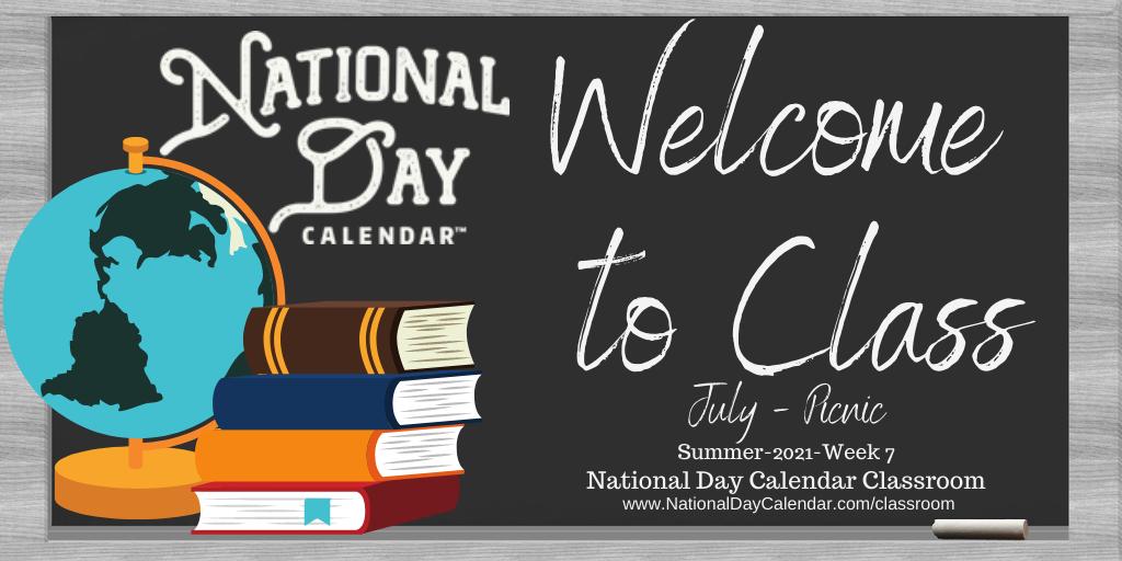 National Day Calendar Classroom - July - Picnic