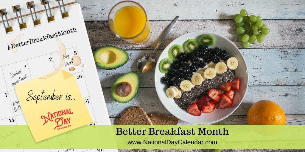 Better Breakfast Month - September