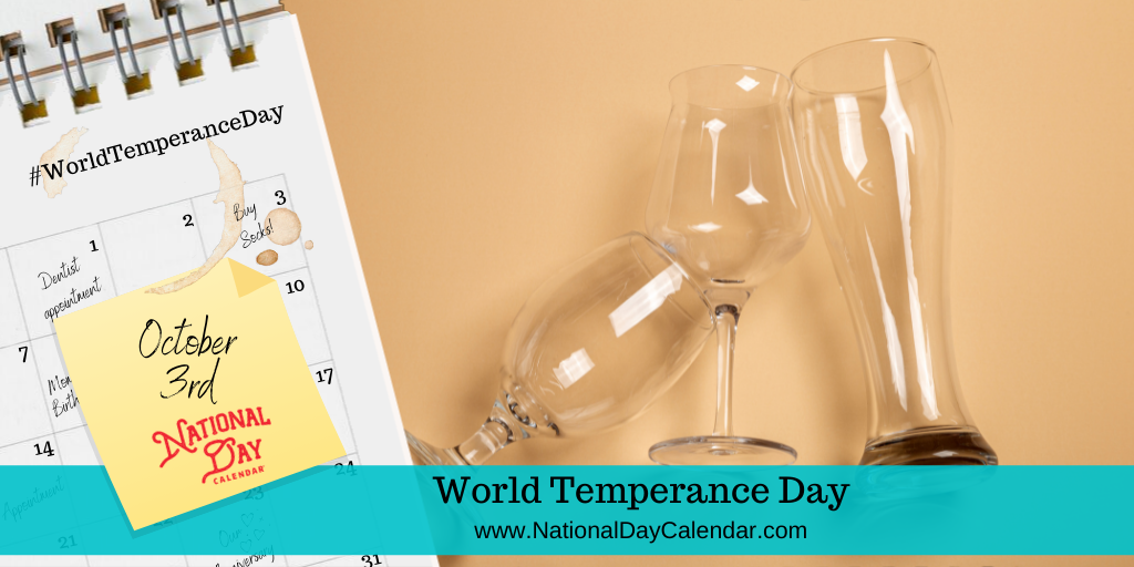 World Temperance Day - October 3